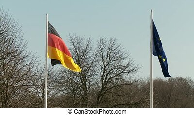 europa, vlag, duitsland