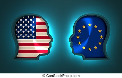 europa, związek, usa, politic, ekonomiczny, między