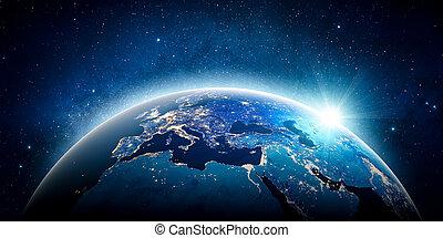europe, éléments, meublé, ceci, image, planète, nasa, earth.