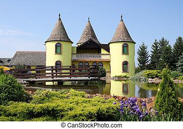 europe, étang, château, serbie, oriental