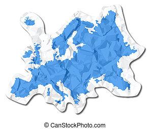 europe, étiquette papier