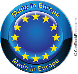 europe γη , γινώμενος , σημαία , κουμπί