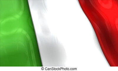 "europe."", ""3d, rimpeling, italië, vlag, zwaaiende"