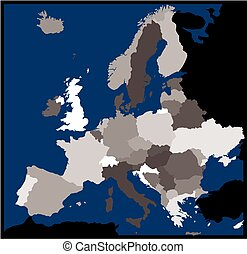 Europe Administrative Map