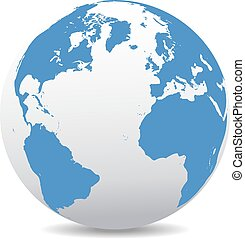 Europe, America, Africa Global Worl - Icon of the World...