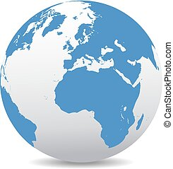 Europe and Africa, Global World - Icon of the World Globe