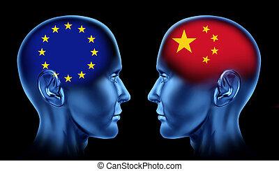 Europe and China trade
