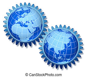 Europe Asia Trade Concept