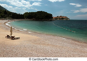 EUROPE BALKAN MONTENEGRO MILOCER BEACH - a beach at the...