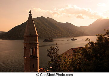 EUROPE BALKAN MONTENEGRO PERSAT KOTOR BAY - the town of...