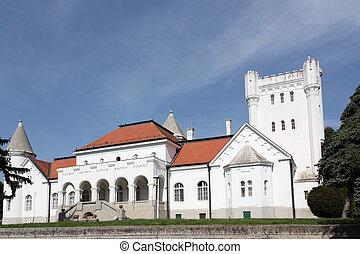 europe, blanc, serbie, château, oriental