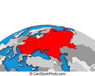 europe, carte, globe, 3d, oriental