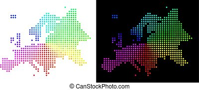 europe, carte, spectre, pixelated