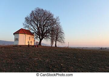 europe, catholique, oriental, -, slovaquie, chapelle, gentil