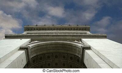 europe, central, de, paris, france, arc, triomphe