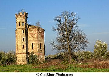 europe, château, ruiné, vieux, oriental