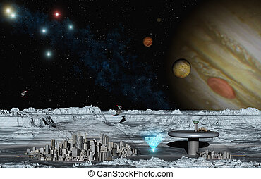 Europe City - This image shows the jupitermoon in feature