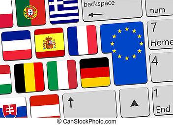 europe, concept, llustration