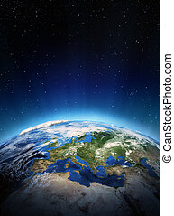 europe, depuis, espace