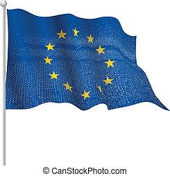 europe, drapeau ondulant