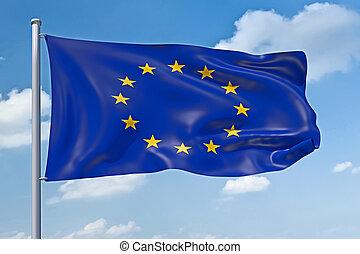 europe, drapeau syndicats