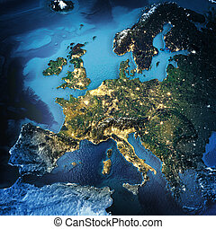 Europe. Elements of this image furnished by NASA. 3D...