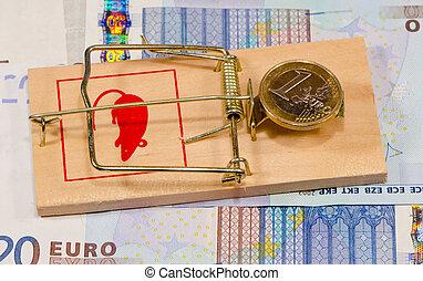 euro zone crisis concept