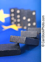 europe, financier, domino, -, effet, crise