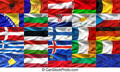 Europe flag collection 1