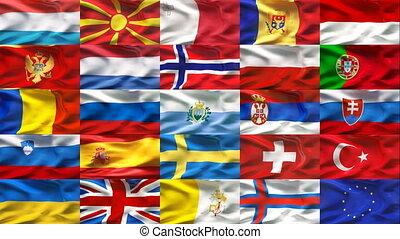 Europe flag collection 2  - Europe flag collection 2