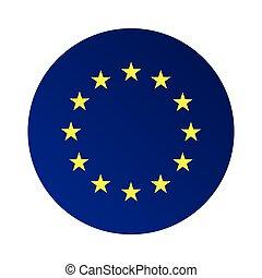 Europe flag (EU) vector