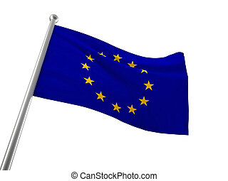 europe flag - european flag isolated on white