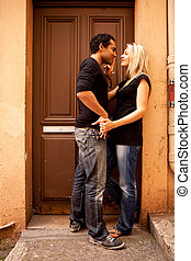 europe, flirt, couple