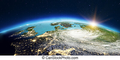 Europe from space. 3d rendering