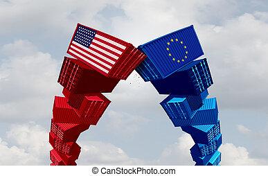 europe, guerre, nous, commercer