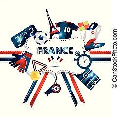 europe, illustration., football, championship., vecteur, sport