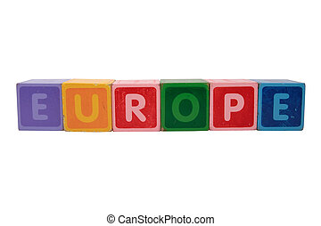 europe in toy blocks