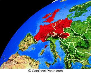 europe, la terre, occidental, espace