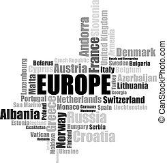 Europe lettering illustration