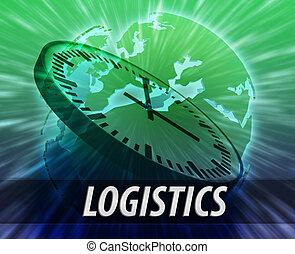 Europe logistics management concept