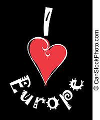 Europe - Love flag