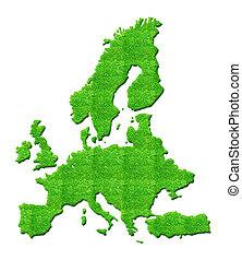 Europe Map 3D illustration isolated background