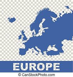 Europe map. Flat vector