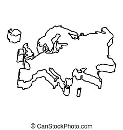 europe map silhouette icon