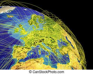 europe, occidental, espace