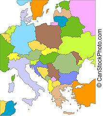 europe, oriental, editable, pays