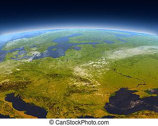 europe, oriental, espace
