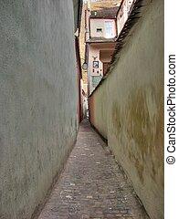 europe, oriental, roumanie, narrowes, rue, brasov, europe