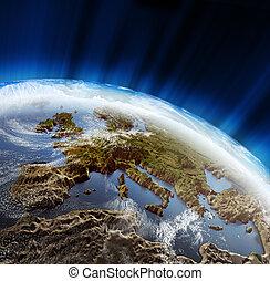 europe, paysage, 3d
