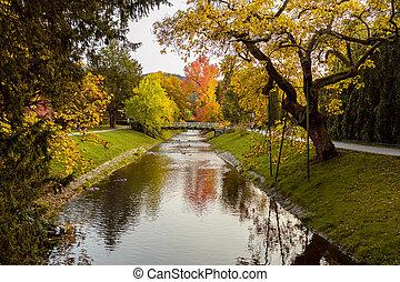 europe., paysage, baden-baden., allemagne, automne